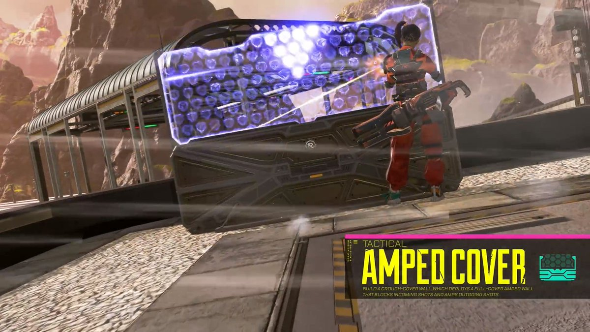 Rampart's amped cover ability in Apex Legends