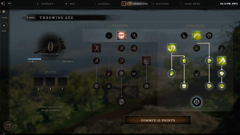 Weapon Mastery tree New World