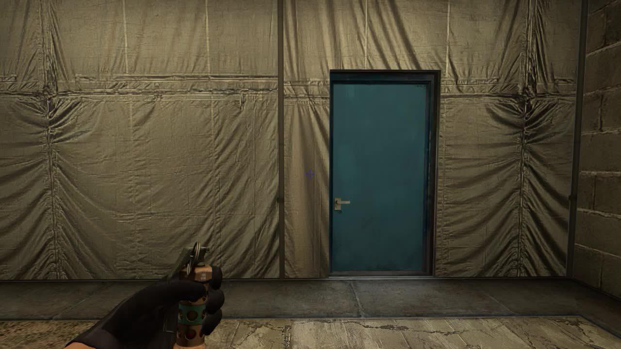 Squeaky door from T side on Cache in CS:GO