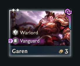 Chosen Garen card in TFT Fates