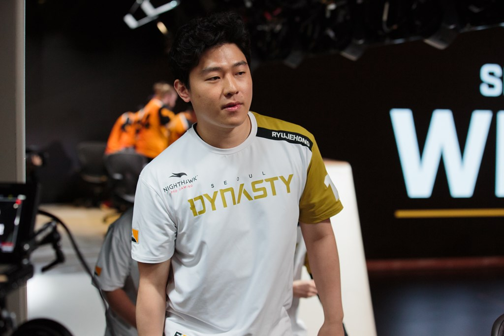 Ryujehong playing for the Seoul Dynasty in OWL Season 1 2018