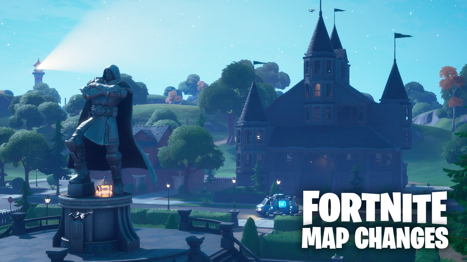 All Fortnite Season 4 Map Changes Doom S Domain Helicarrier More Dexerto While fortnite season 4 downtime was taking place the map for the latest battle pass was leaked early by hypex. all fortnite season 4 map changes doom