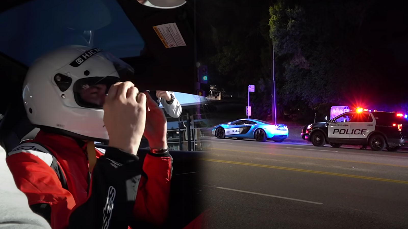 Cops pulling over supercar drivers