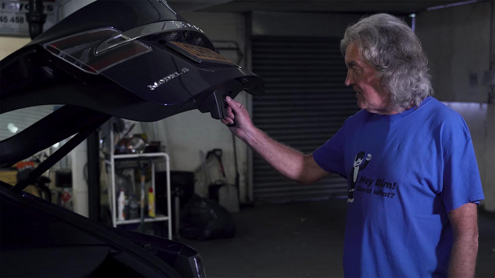 James May closing Tesla boot