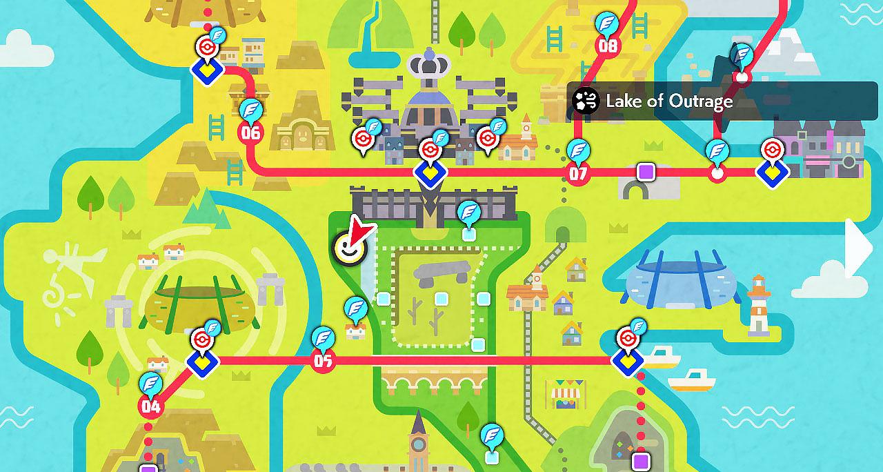 lake of outrage pokemon sword shield map