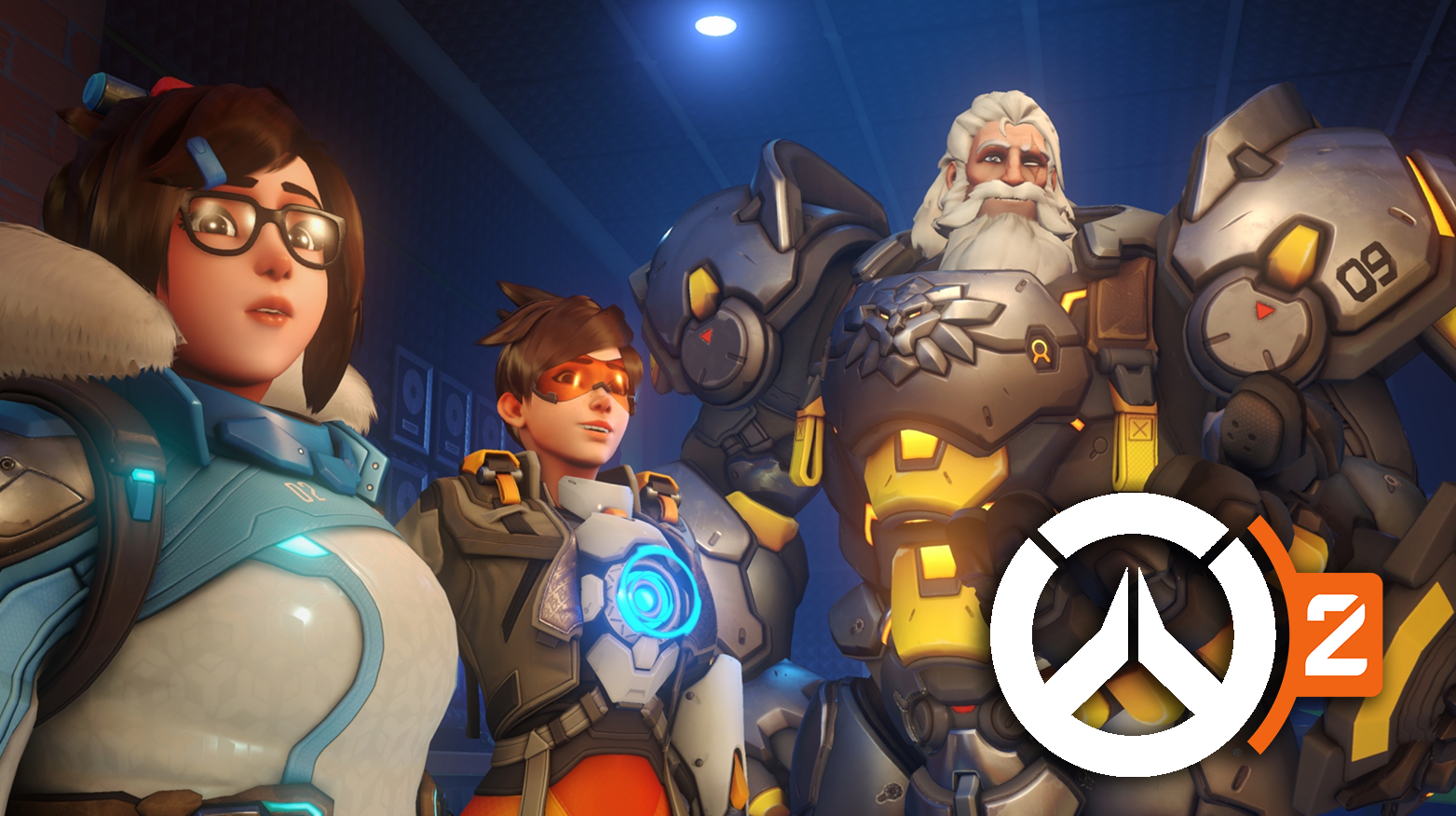 Overwatch 2 Mei, Tracer, and Reinhardt skins