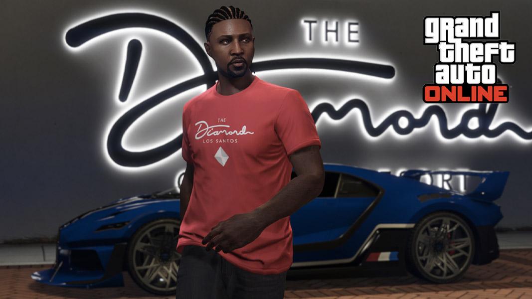 GTA V character at the Diamond Casino
