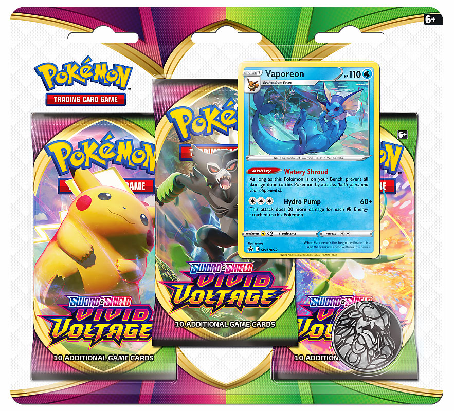 pokemon vivid voltage vaporeon promo