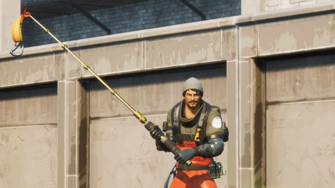 Fortnite character with a fishing rod