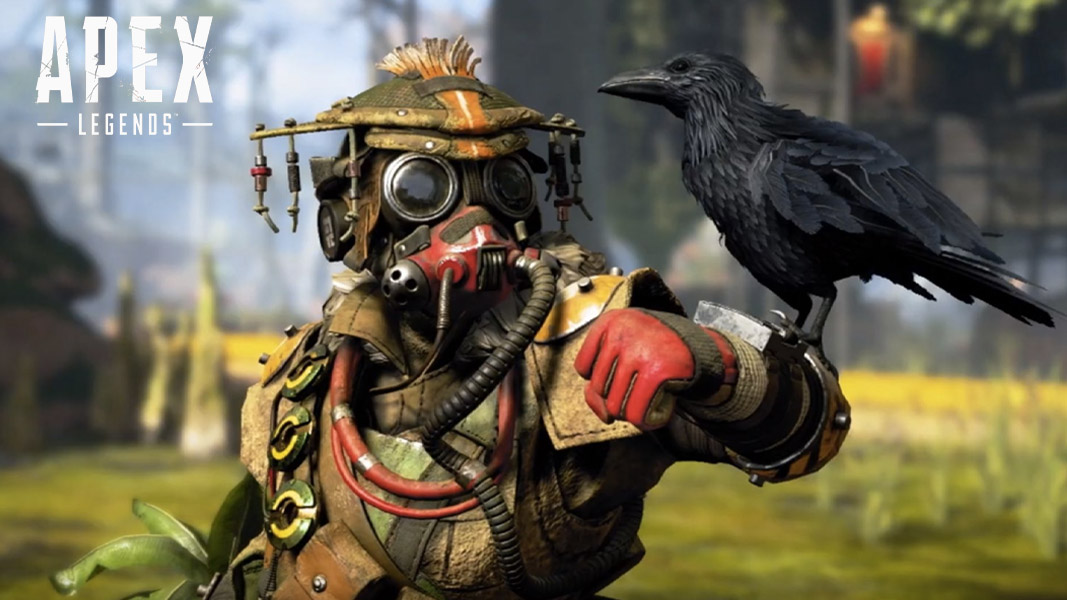 Bloodhound skin in Apex Legends with Twitch Prime logo