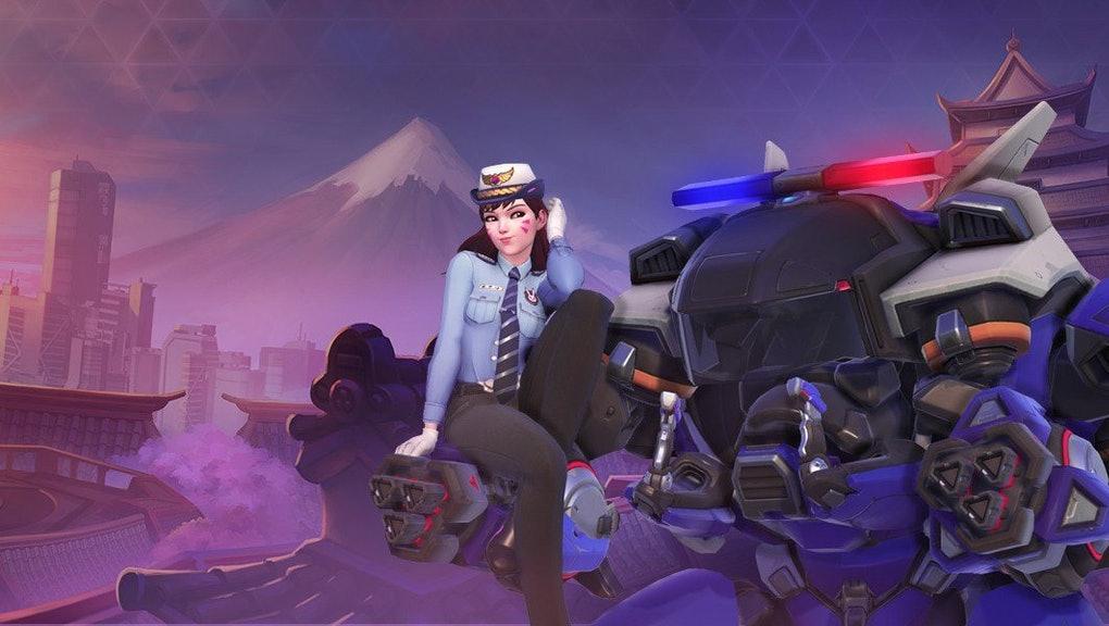 Officer D.Va skin in Overwatch