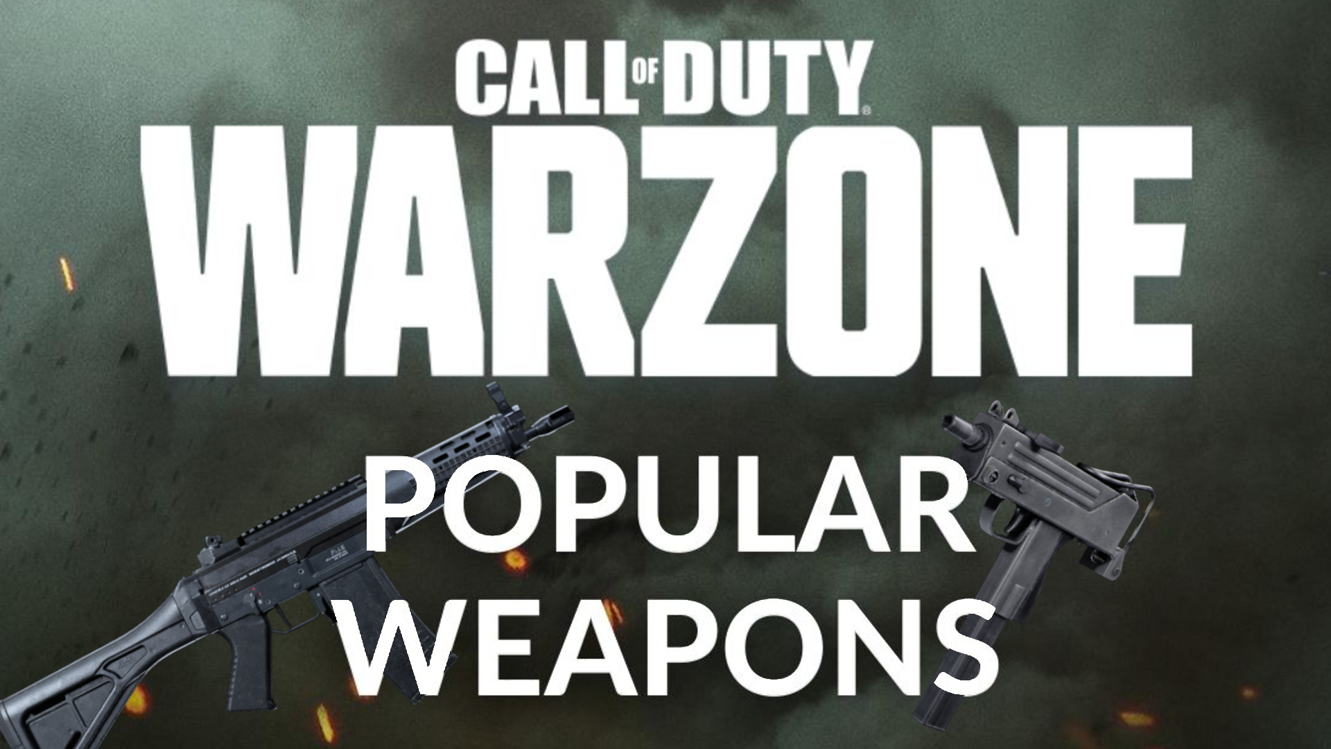 Most popular warzone weapons