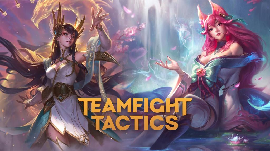 Divine Sword Irelia and Spirit Blossom Ahri from TFT Fates