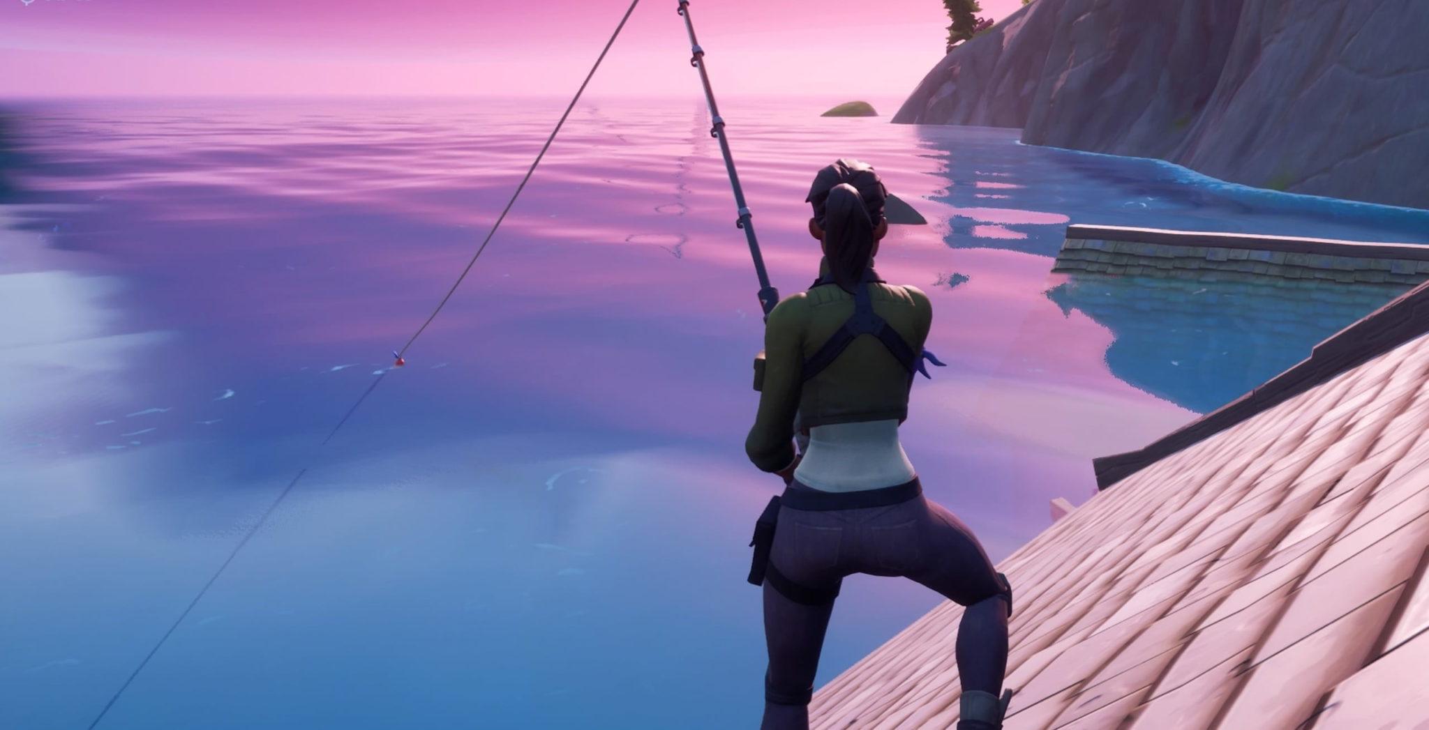 Fortnite character fishing
