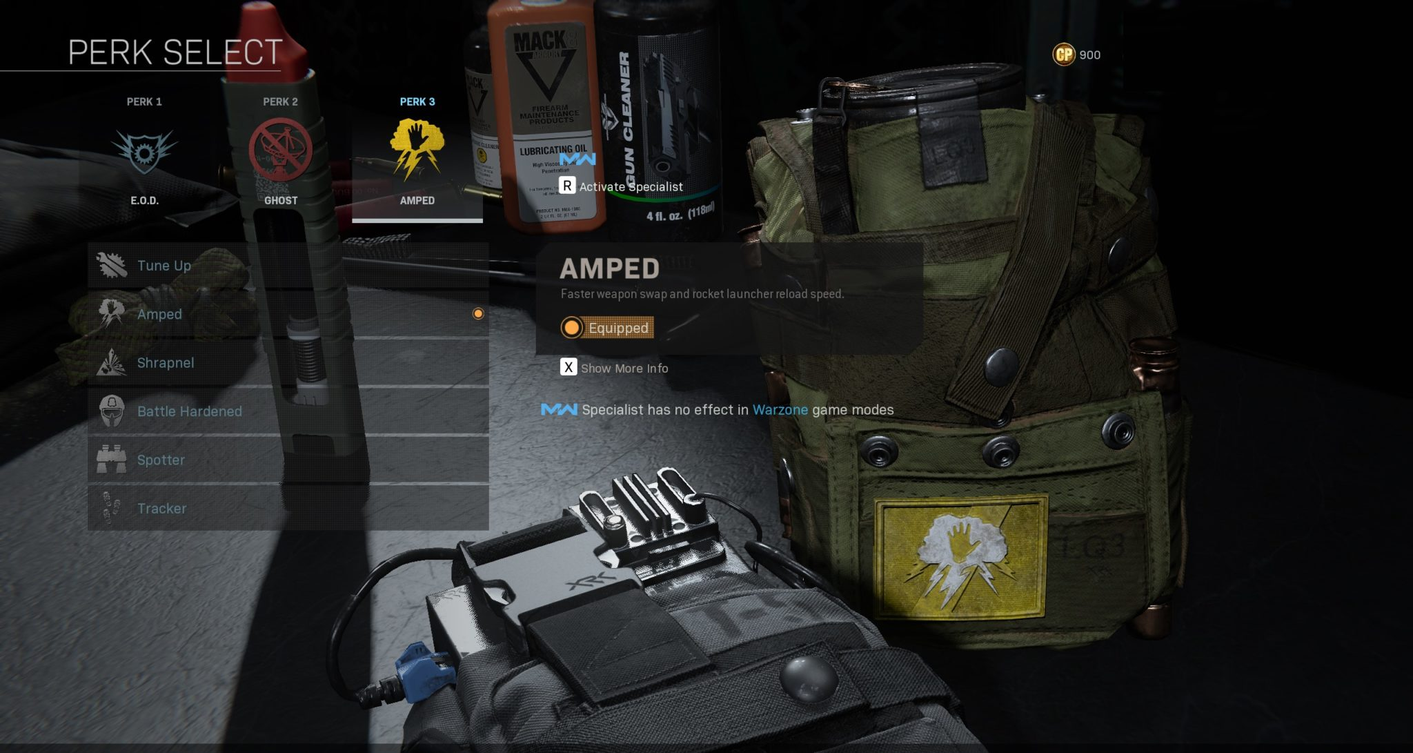 Amped perk