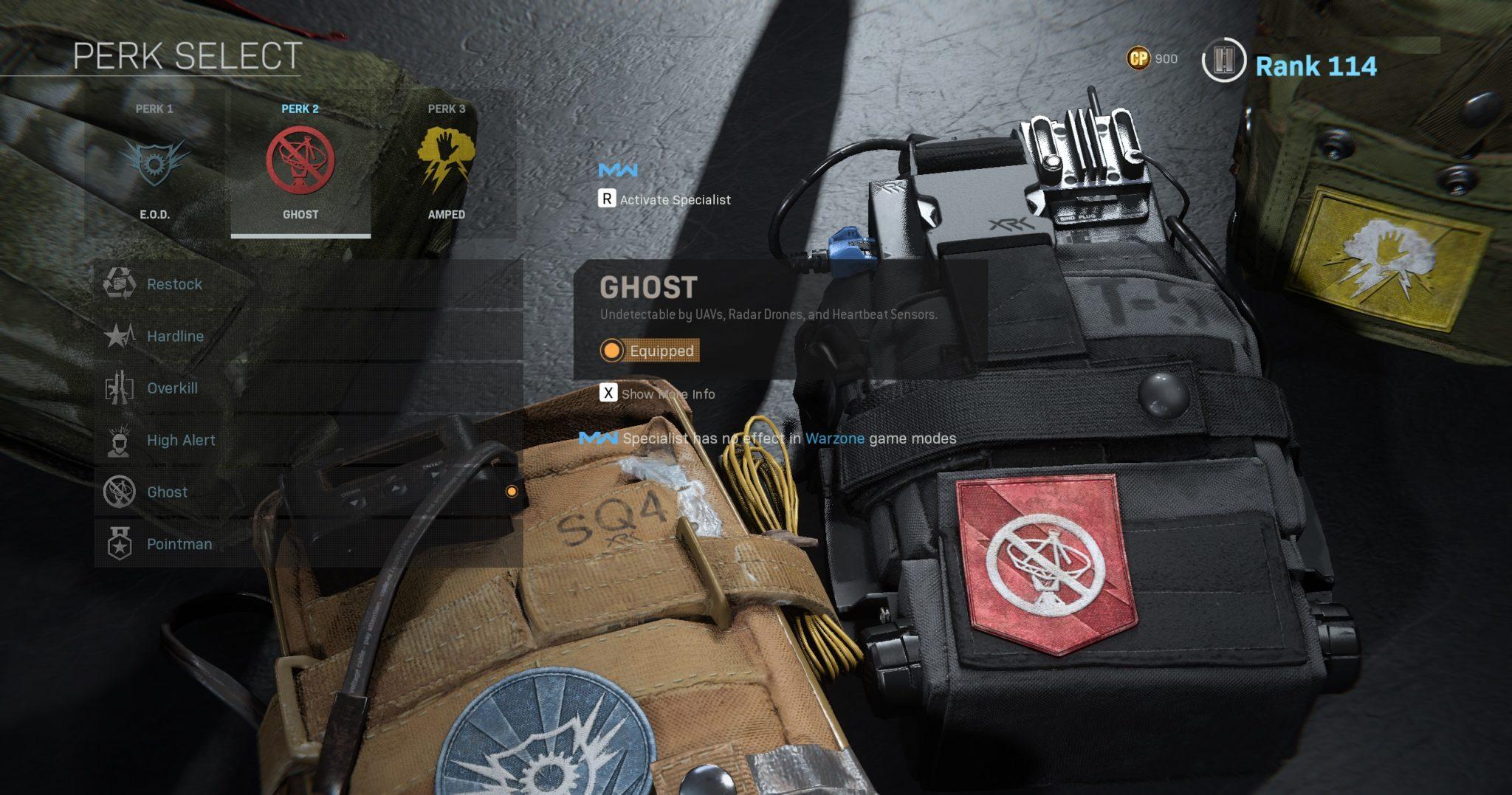 Ghost perk