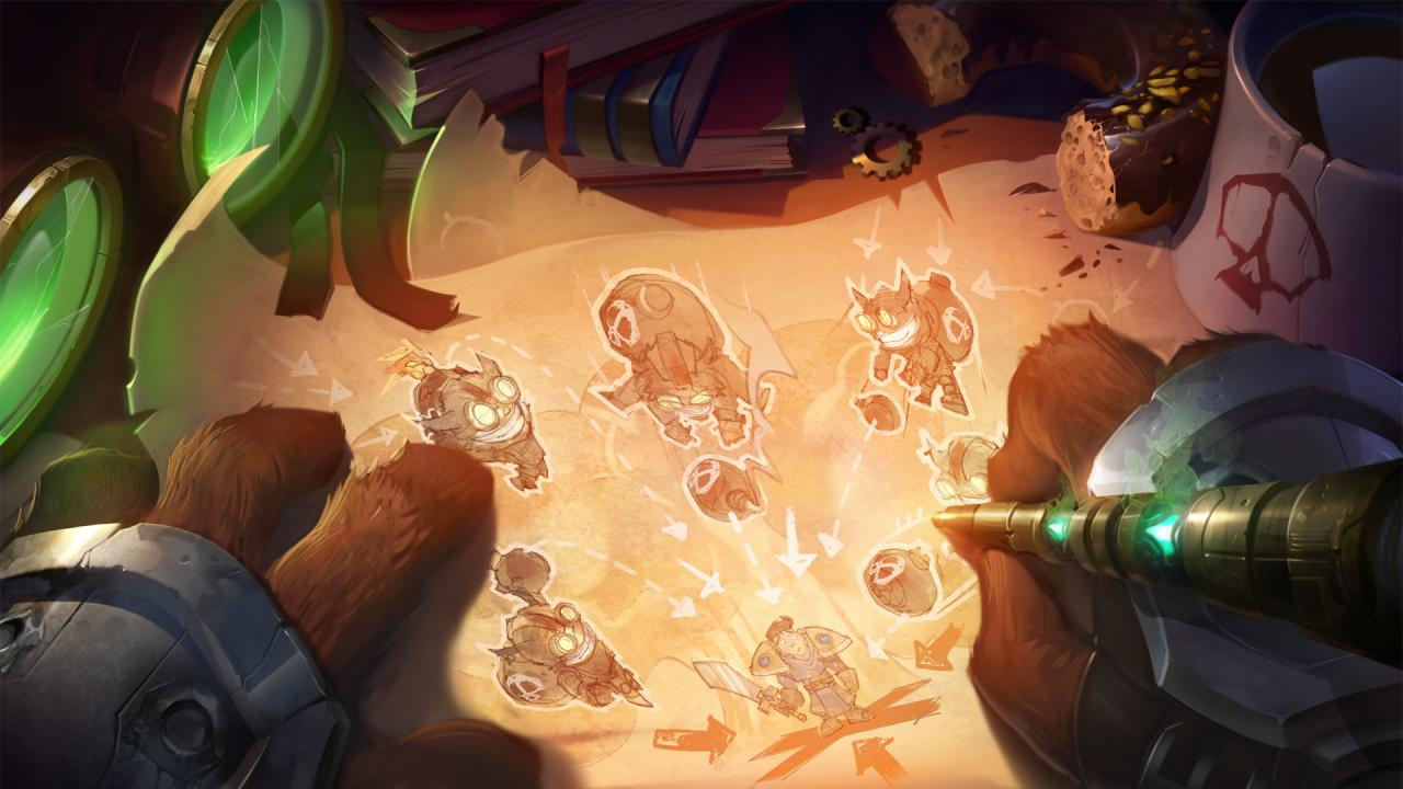 One For All banner for League with Ziggs and Garen