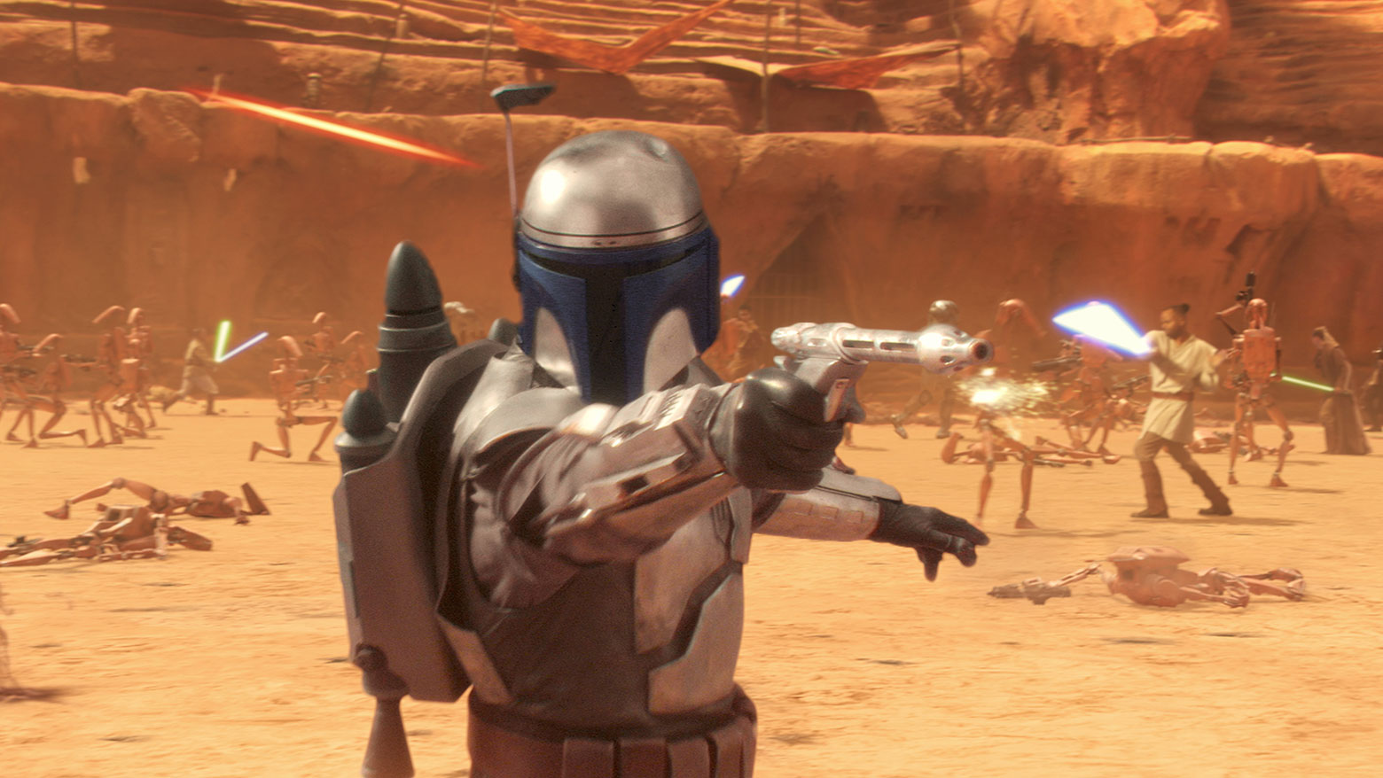 Morrison played Boba Fett's father Jango all the way back in The Attack of the Clones in 2002.
