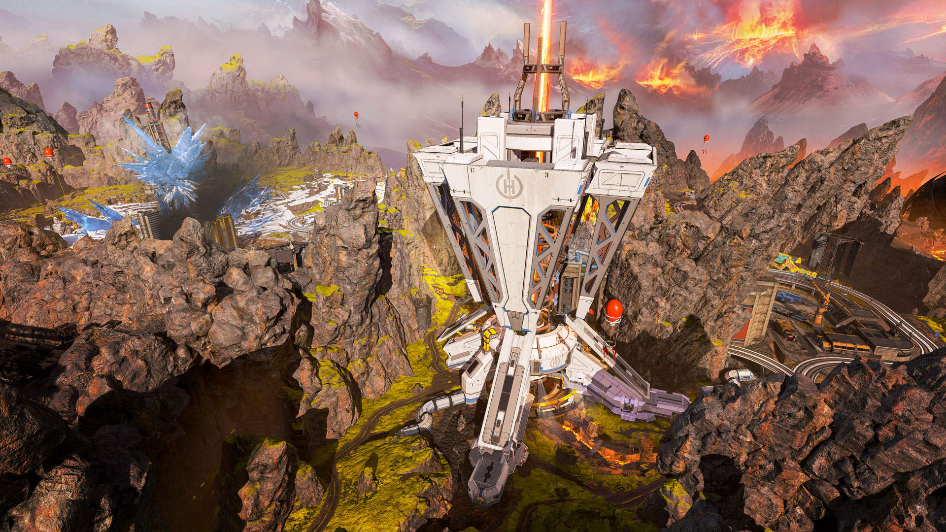 mining rig in worlds edge Apex Legends map