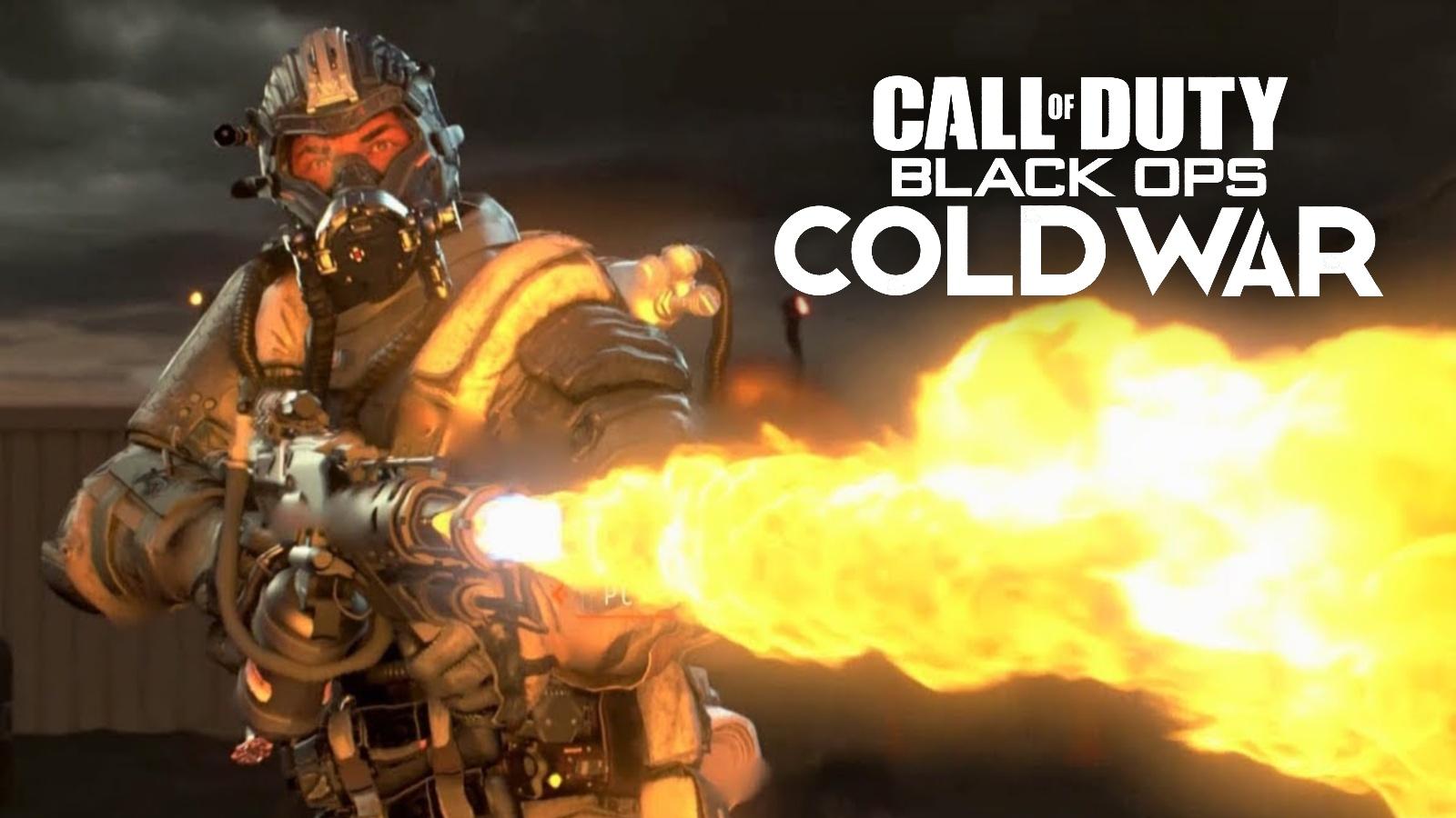 Black Ops flamethrower Cold War