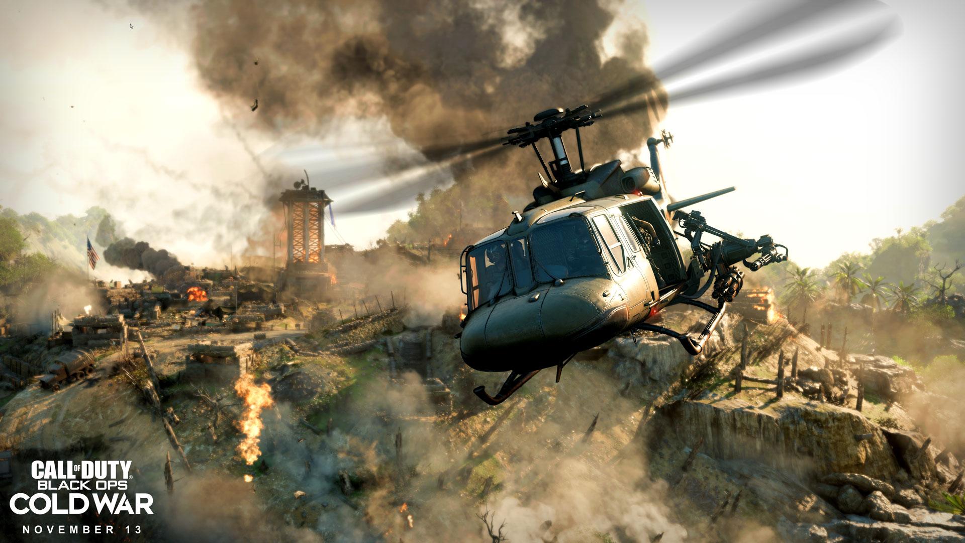 Black Ops Cold War helicopter