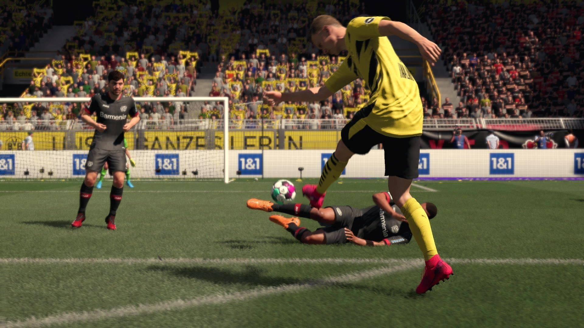 FIFA 21 on goal