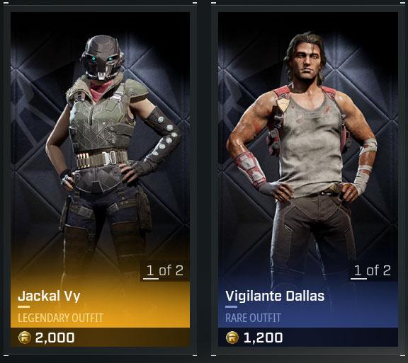 Vy Dallas Rogue company skins