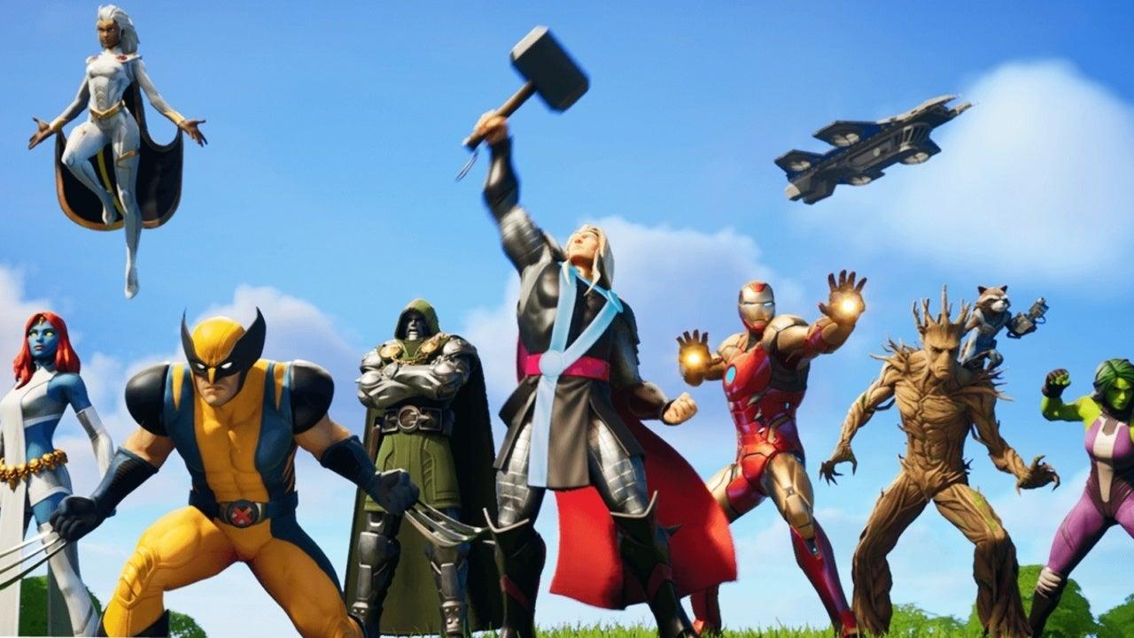 All the Fortnite Marvel skins in Season 4 in game