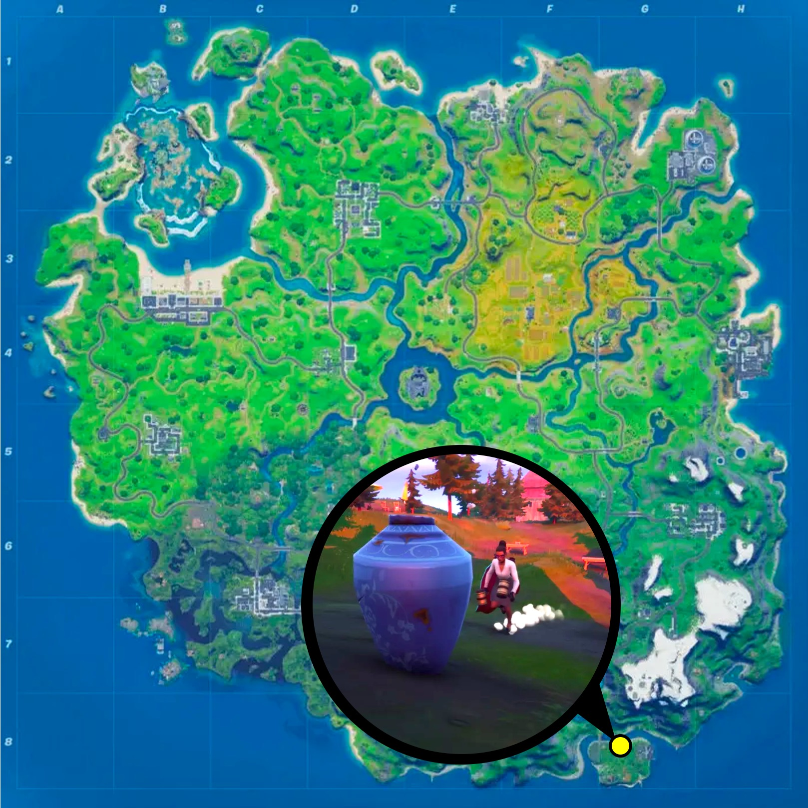 Vase location fortnite