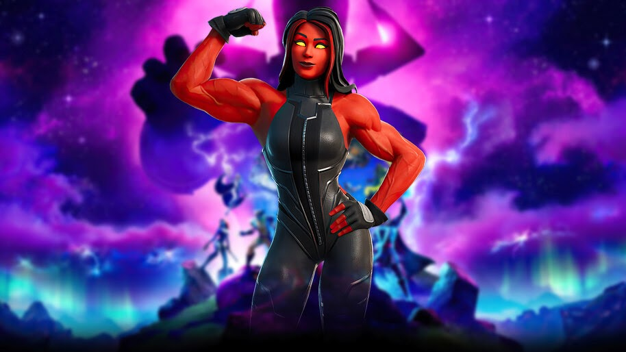Red She Hulk in Fortnite