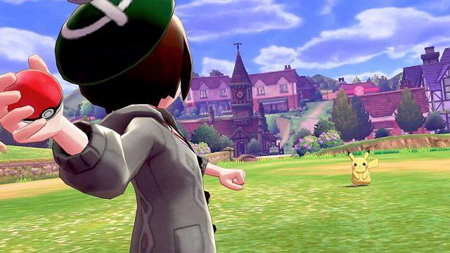 Pokeball throw in Pokemon Sword Shield