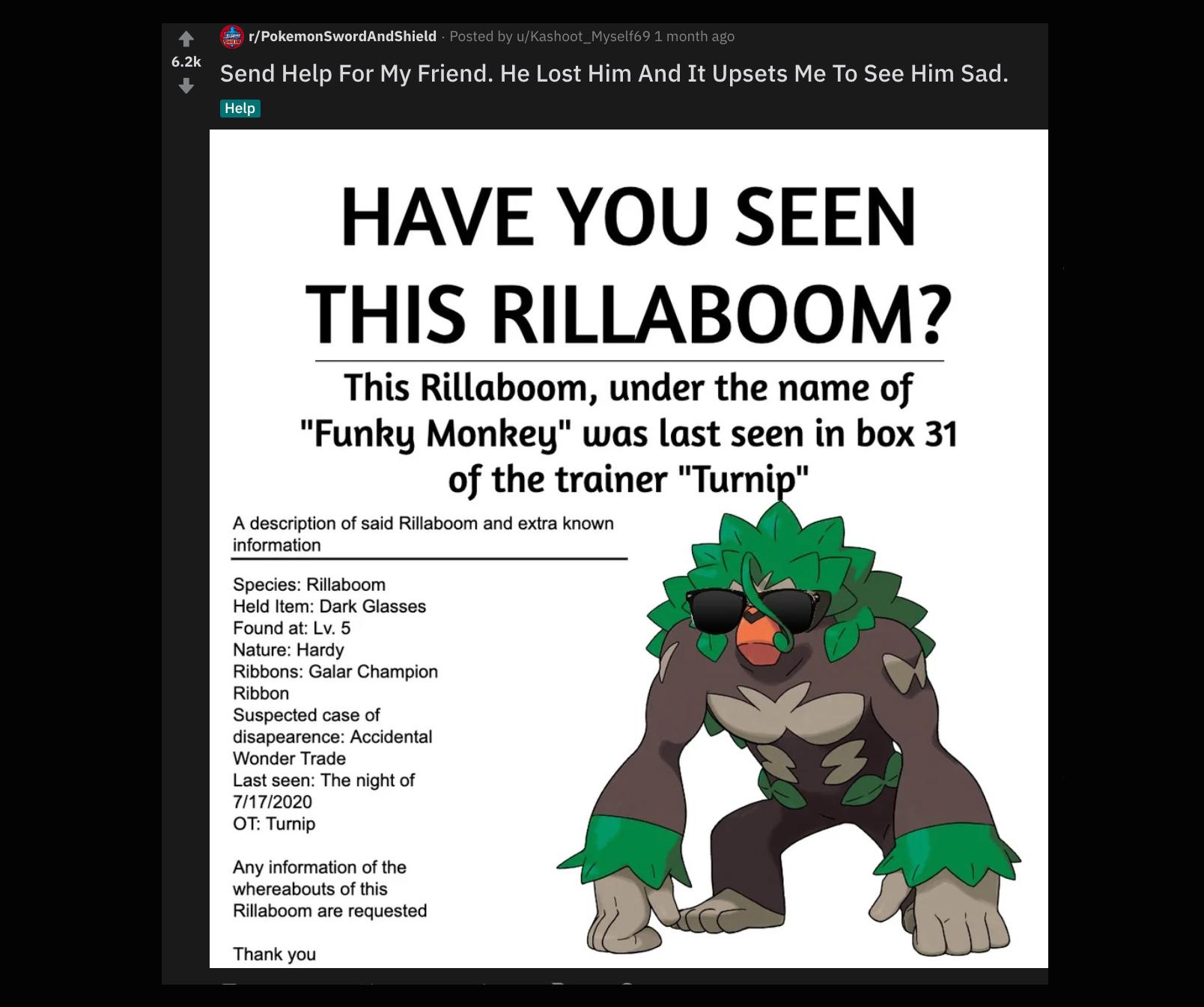 reddit pokemon lost poster