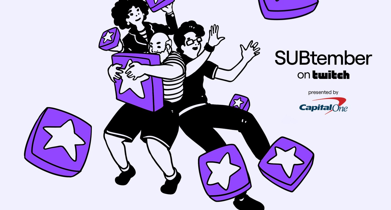 Twitch promotional image for partnership with Capital One in SUBtember event.
