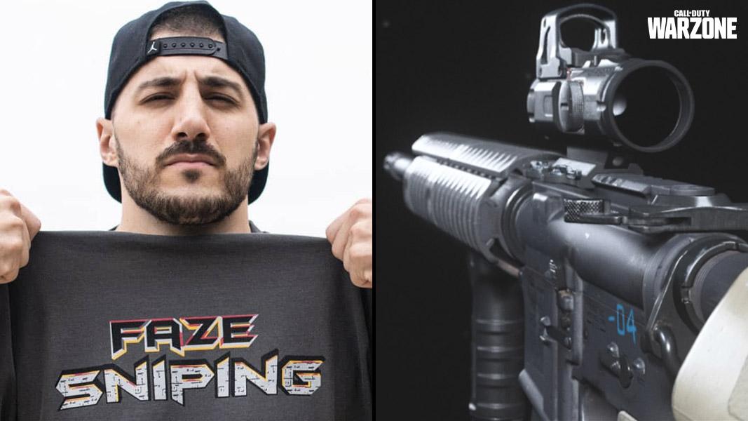 NickMercs and an M4 from Modern Warfare