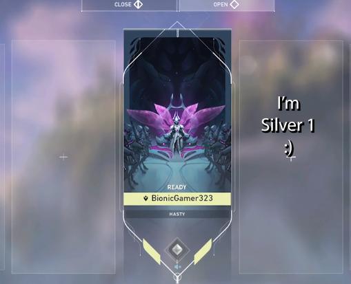BionicGamer's Valorant rank