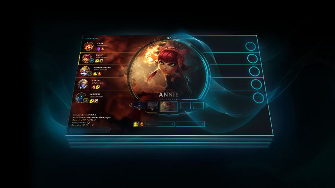 Annie being selected in league of legends champion select