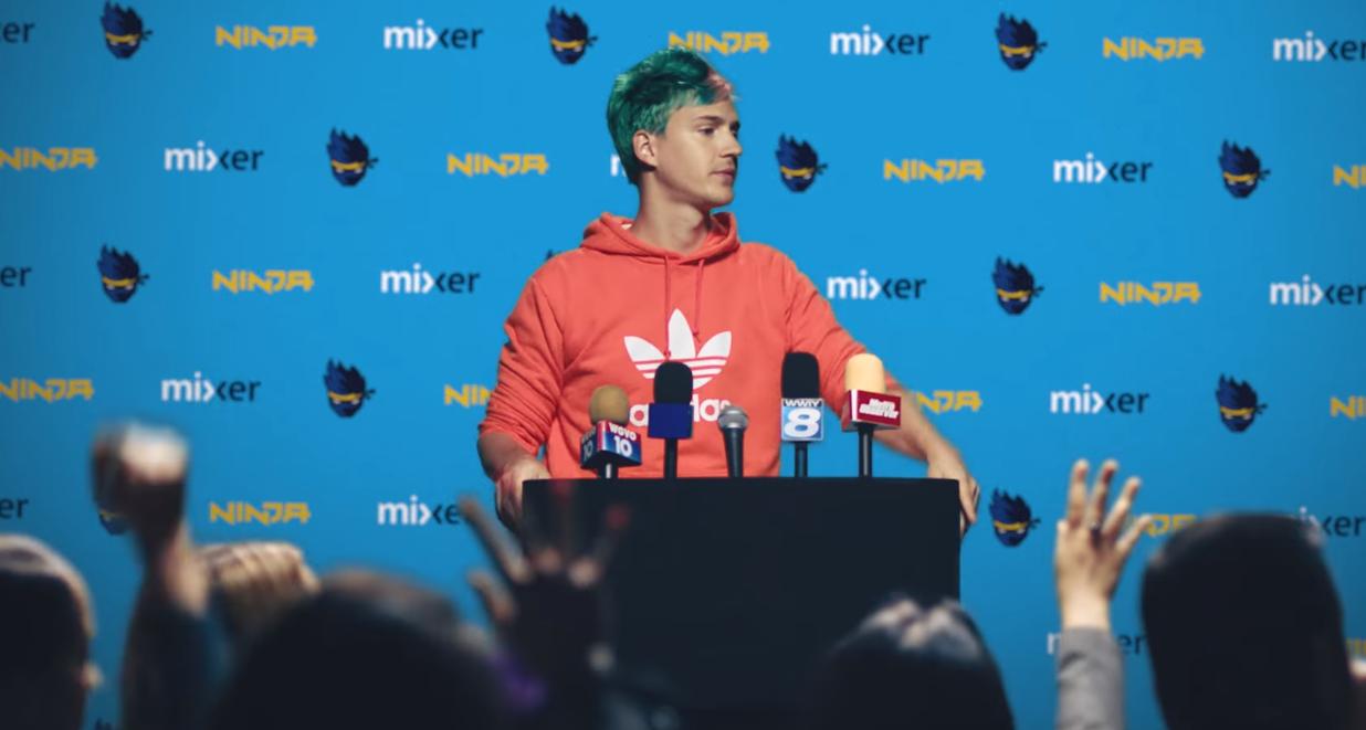 Ninja during Mixer announcement.