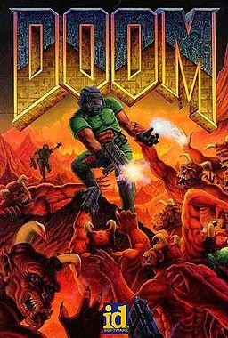 The original cover art for 1993 version of DOOM