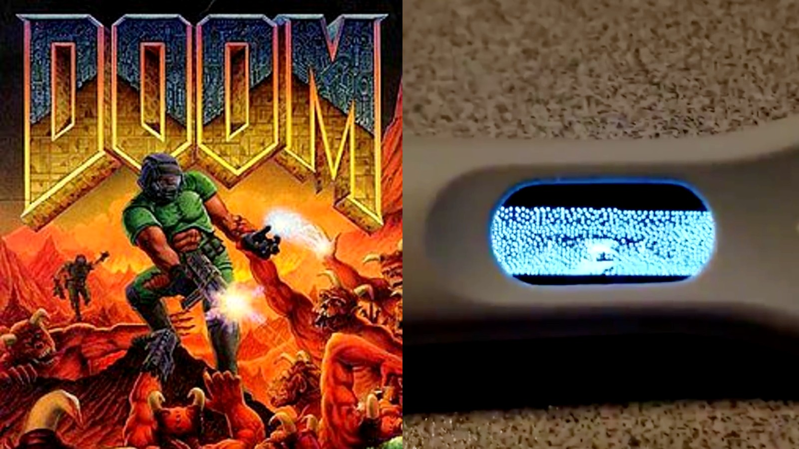 Doom running on a pregnancy test