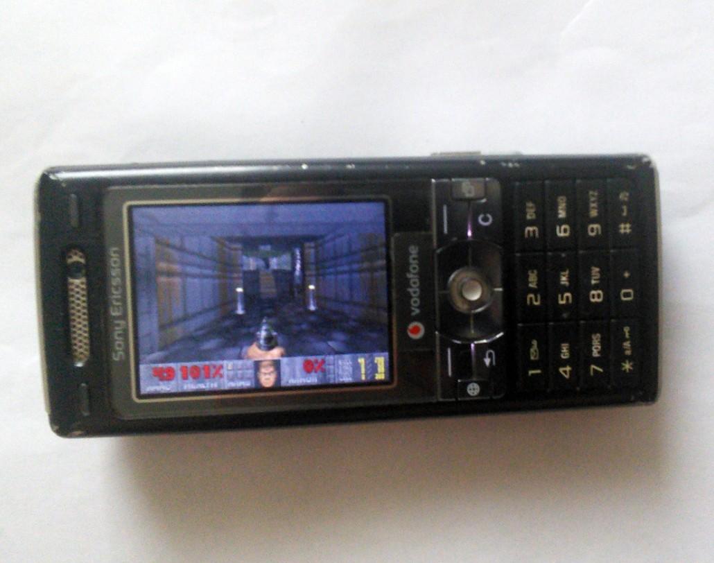 Doom running on a Sony Ericsson