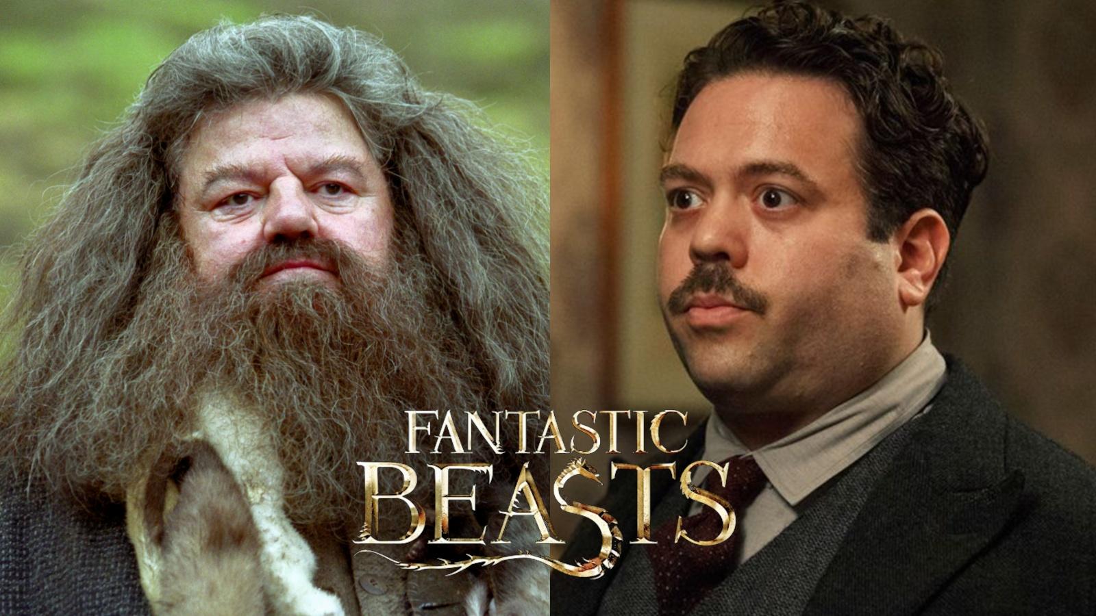 Hagrid and Jacob Kowalski Fantastic Beasts 3