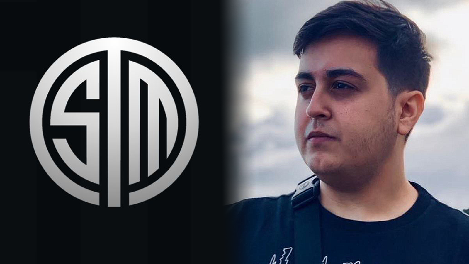 The TSM logo is positioned side-by-side with a photo of Pokelawls looking wistfully into the distance.