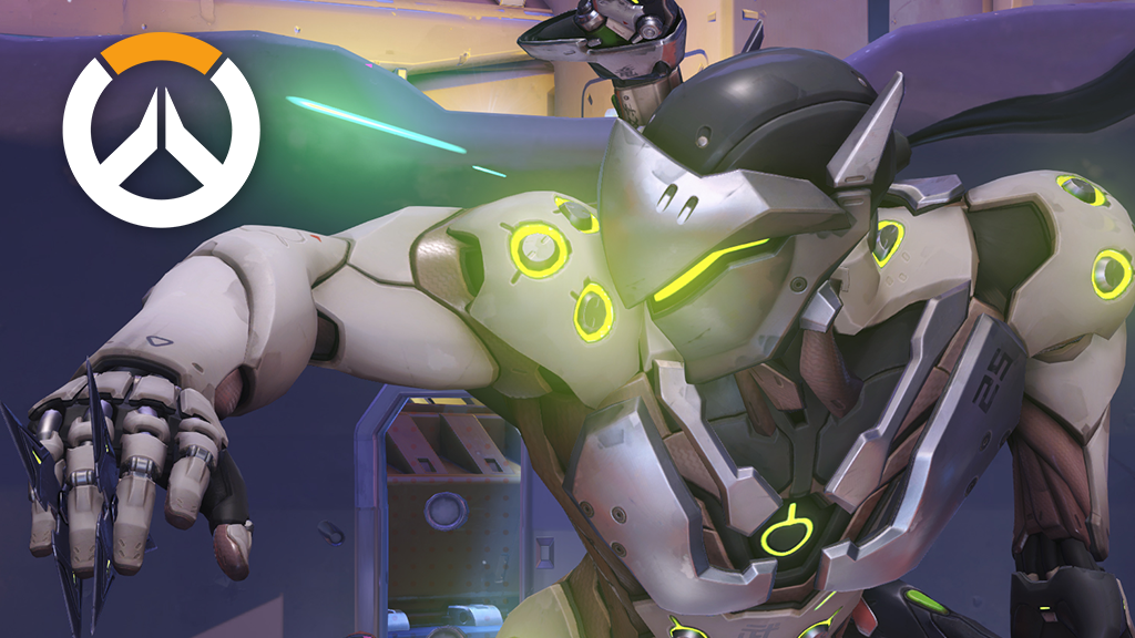 Genji with shurikens out in Overwatch