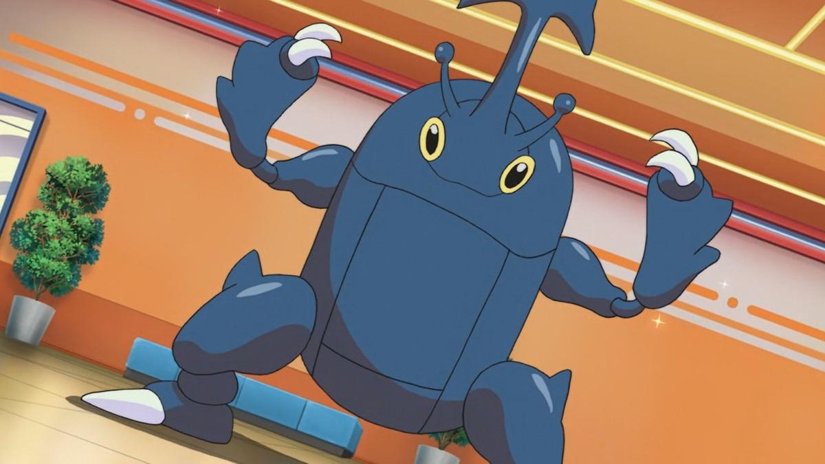 Heracross anime scene
