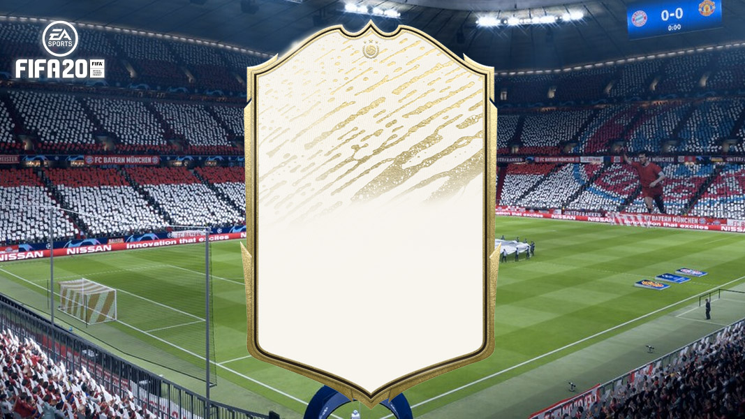 FIFA 20 Icon against the background of the Bayern Munich stadium