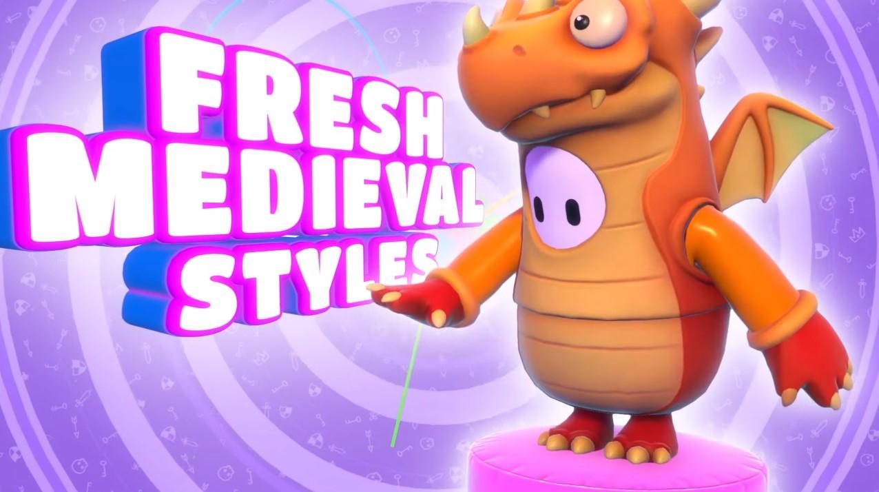 Dragon costume in Fall Guys