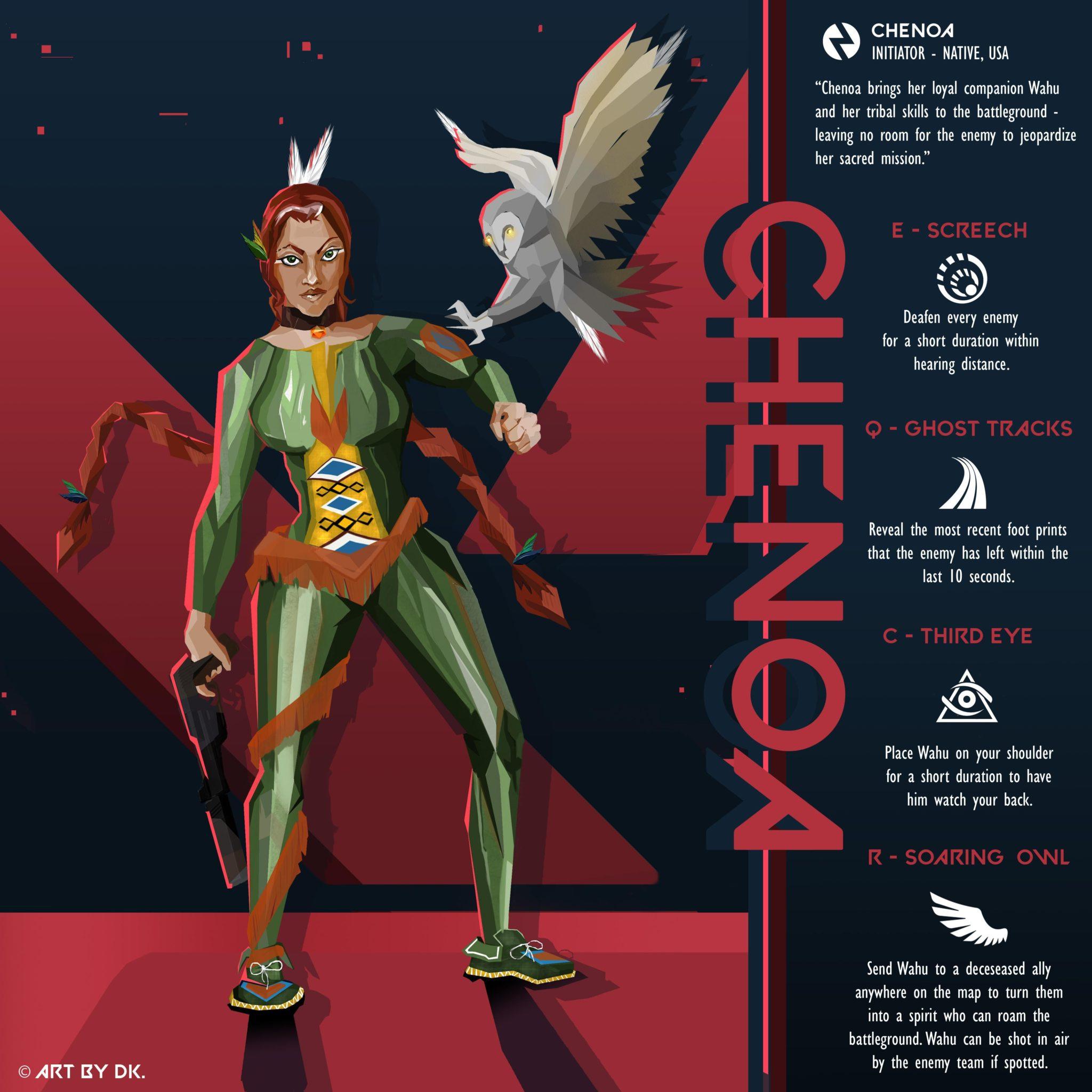 Valorant Initiator Agent concept.