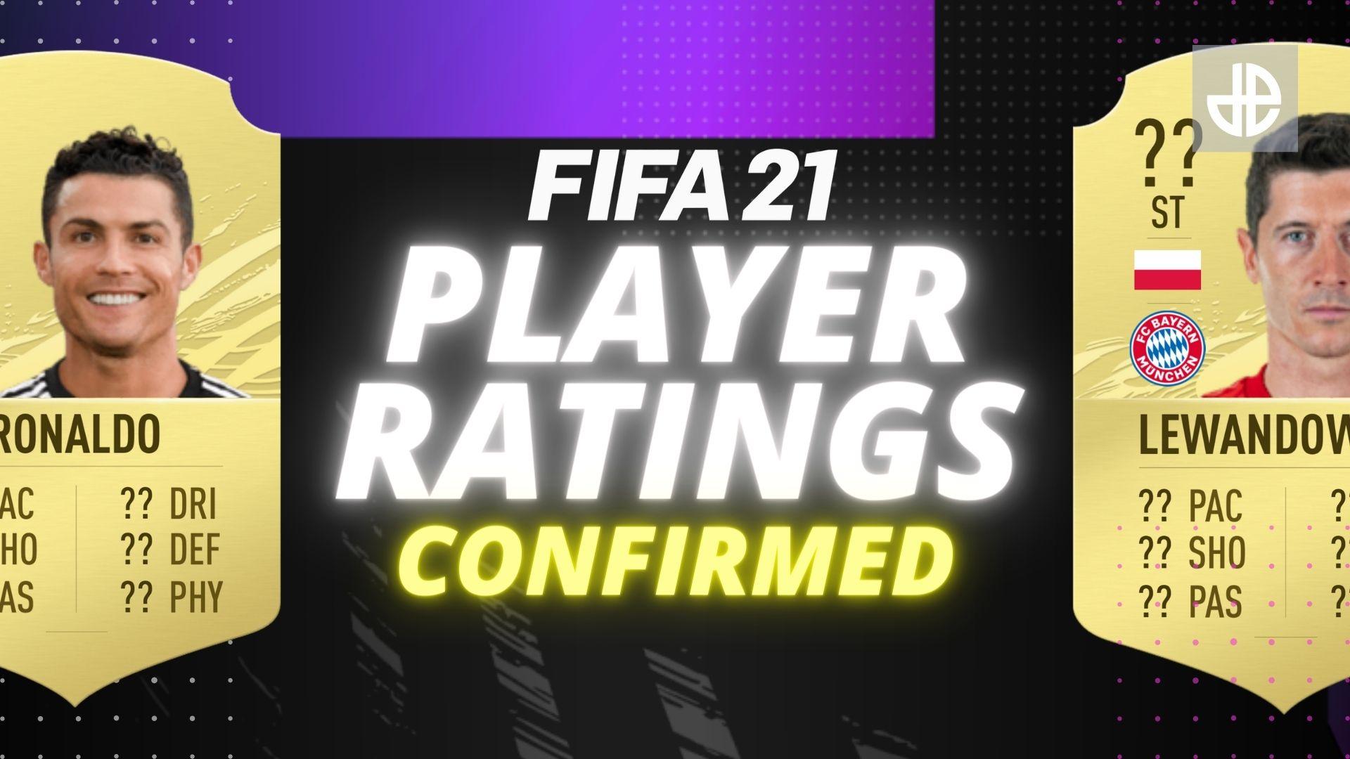 FIFA 21 ratings with Ronaldo and Lewandowski