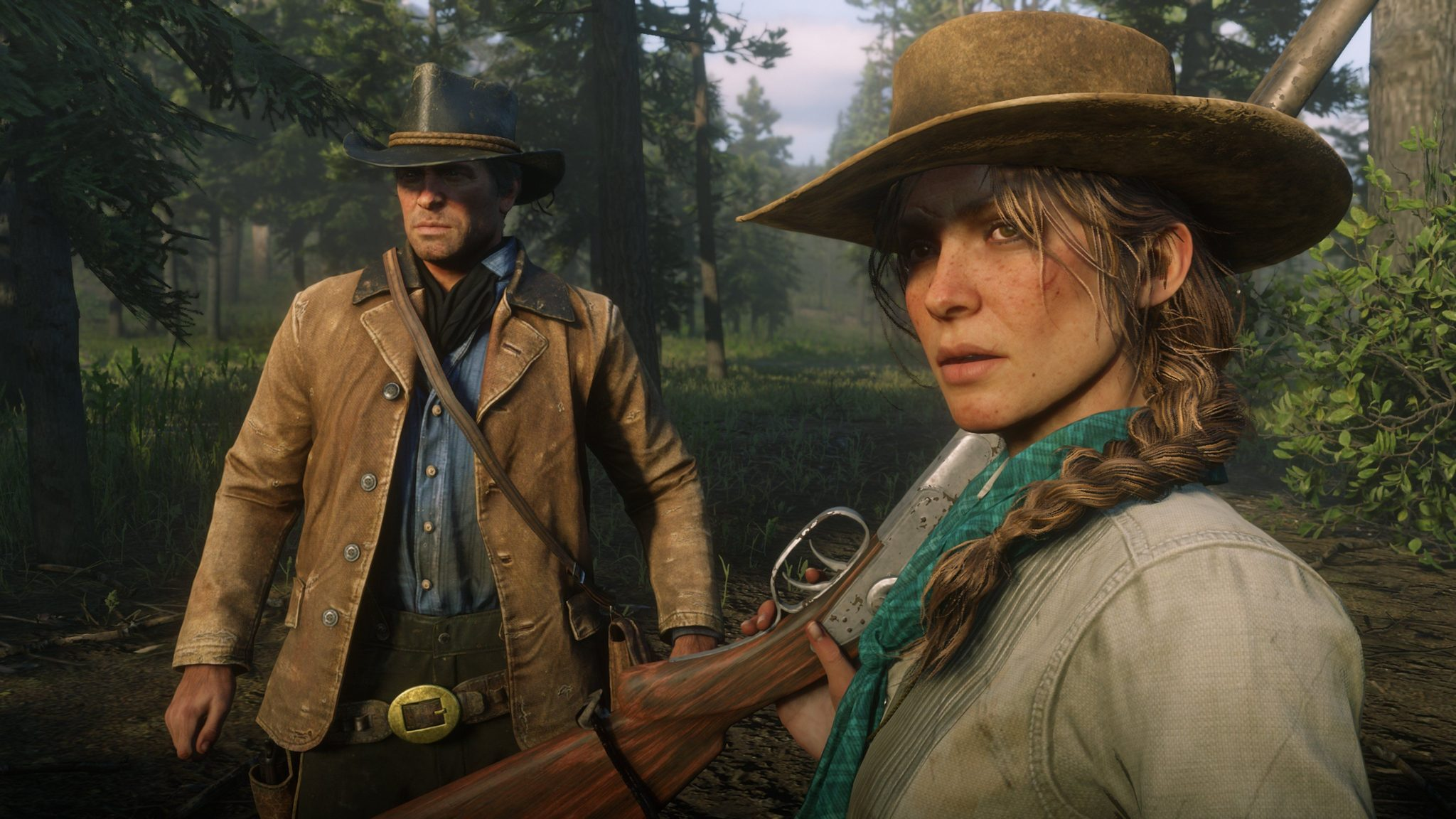 Red Dead Redemption 2 Arthur and Sadie