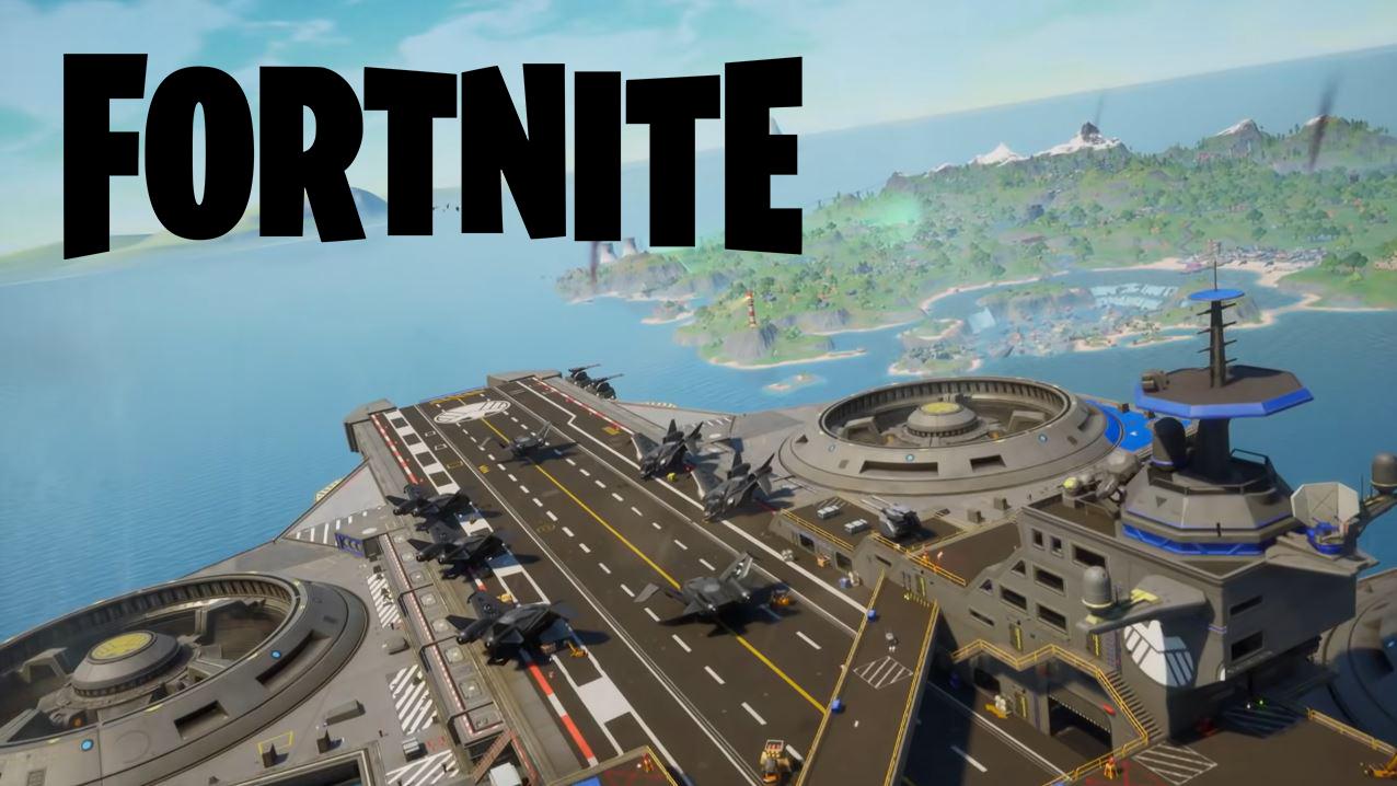 Fortnite's helicarrier spawn island